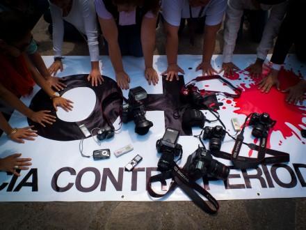 Una de las protestas contra la violencia hacia los periodistas. Foto: Demián Chávez