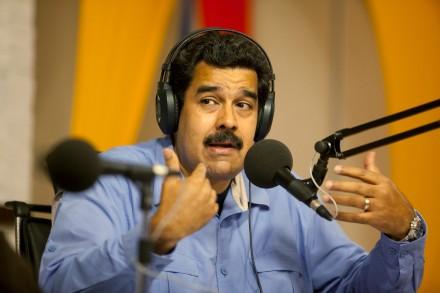 Nicolás Maduro, presidente de Venezuela, durante la transm