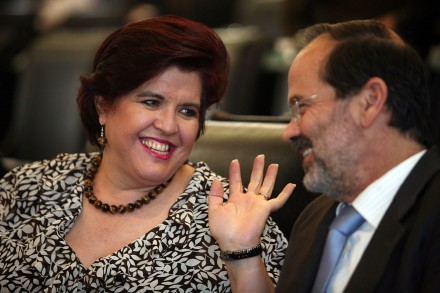 María Teresa Ortuño y Gustavo Madero en el Senado. Foto: Germán Canseco