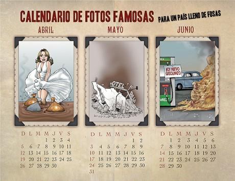 Calendario de fotos famosas para un país de fosas - Monosapiens