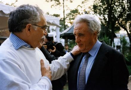 García Márquez y Scherer en el 20 aniversario de Proceso. Foto: Archivo