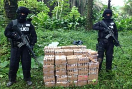 El decomiso de la cocaína en Ecuador. Foto: Policía de Ecuador