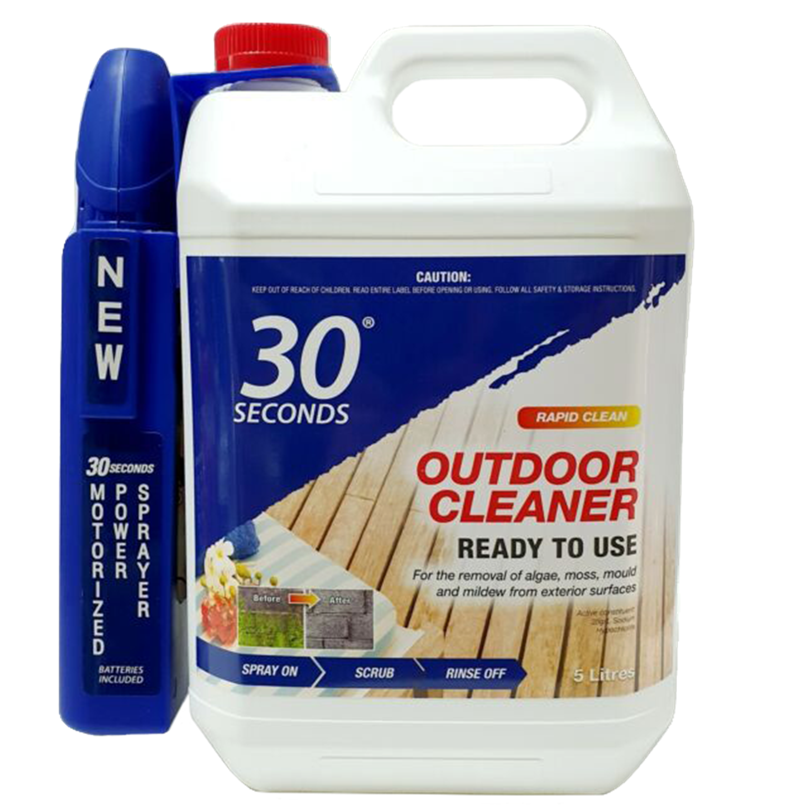 30 seconds 5l outdoor cleaner with
