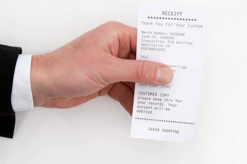 Jewelry receipt