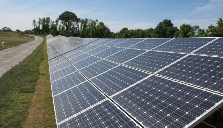 Panels containing solar cells