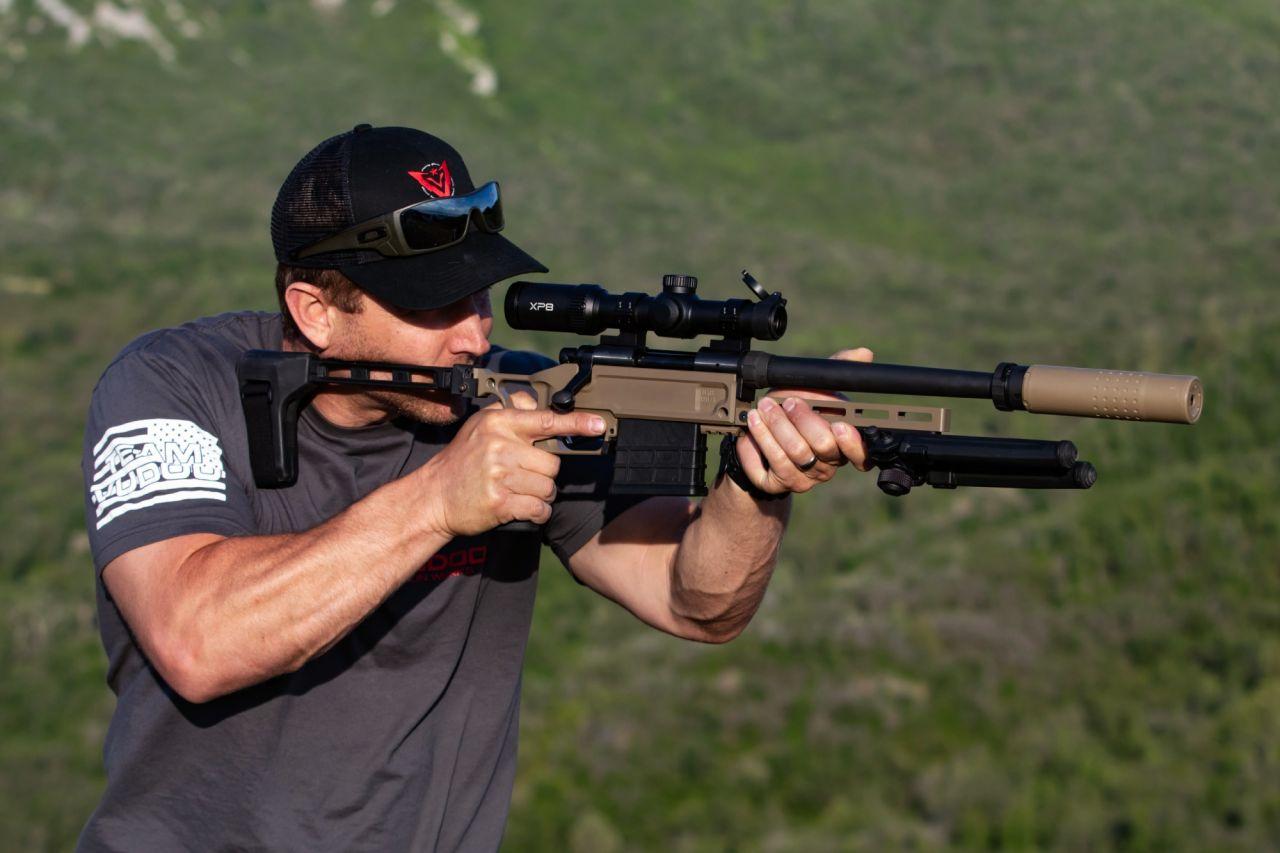 Black Collar Arms Pork Sword Pistol shooting
