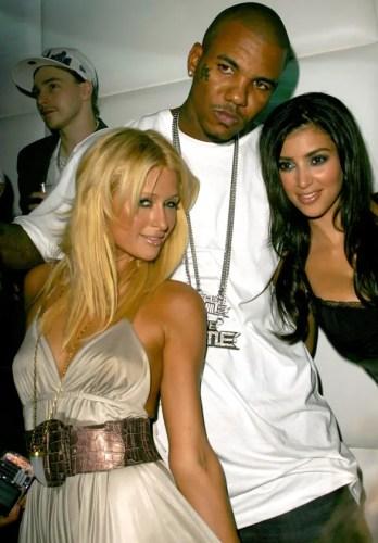 Paris Hilton, The Game and Kim Kardashian at Paris Hilton CD Release Party at Privilege