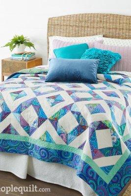 Azure Skies - Designed and Created by Jo Kramer and Kelli Hanken - Kaffe Quilt Fabric Kit