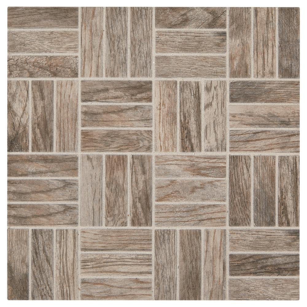 Glazed Porcelain Floor and Wall Tile 39231 sq. Montagna Rustic Bay 12 In X 12 In X 6 35 Mm Ceramic Lattice Mosaic Floor And Wall Tile 1 02 Sq Ft Piece