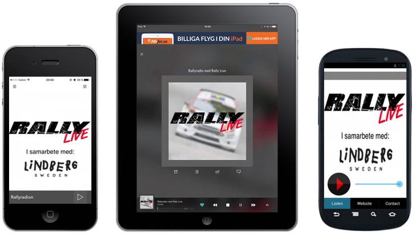 Rally Live lanserar egna mobilappar