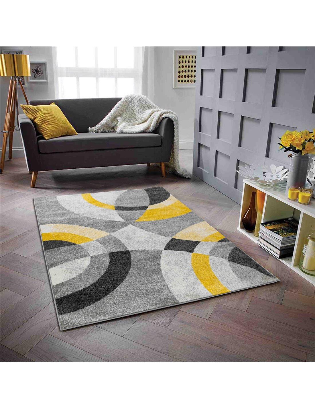 tapis gala 870 scandinave nazar jaune
