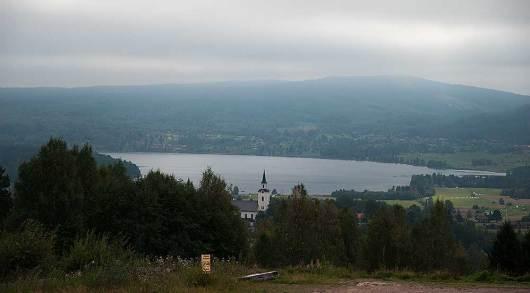 Vy från Björkberget i Siljansnäs