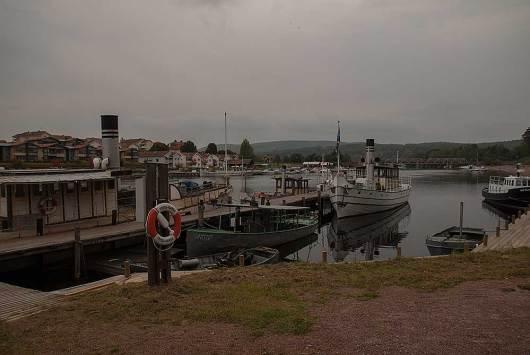 Del av Leksands hamn.