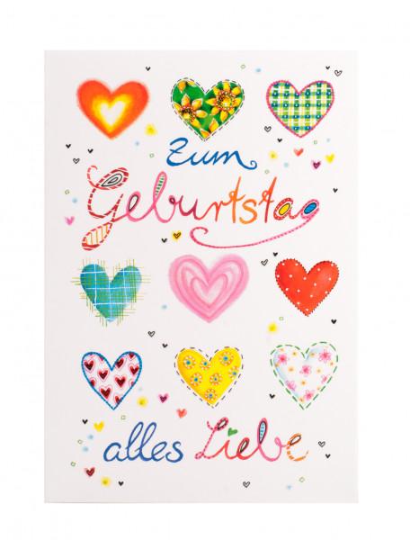 Karte Zum Geburtstag Alles Liebe Herzen Artikel Nr 357 082