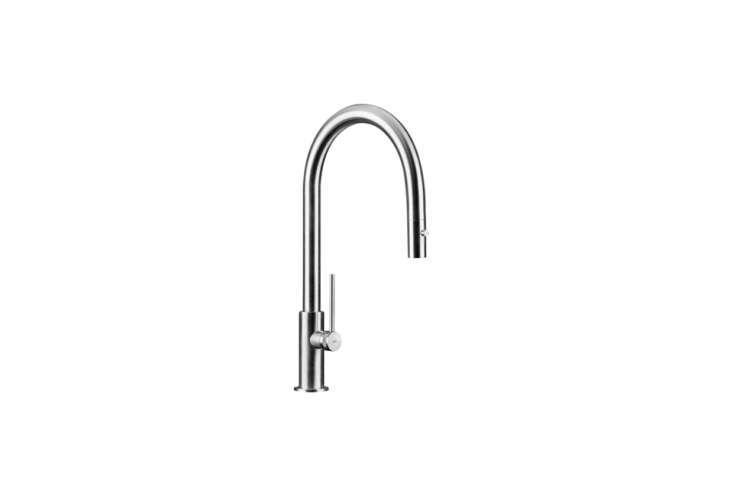 modern single lever gooseneck kitchen