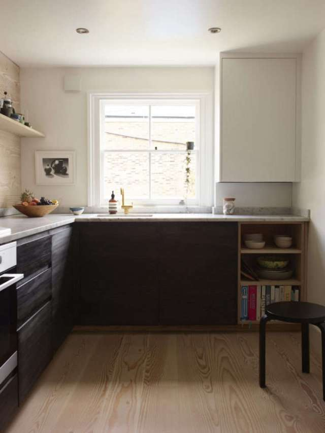 Kitchen in Lisa Jones' London Remodel, Photo by Richard Round Turner
