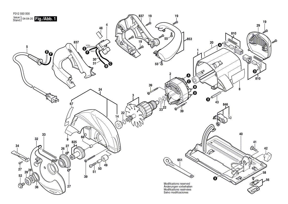 Skil 01 Parts List