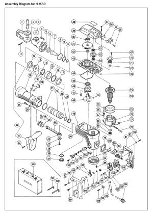 Hitachi H65SD Parts List | Hitachi H65SD Repair Parts