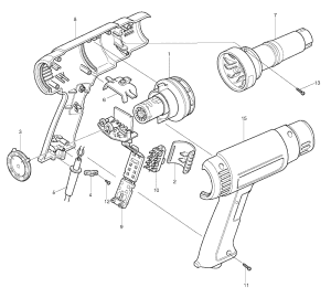 Makita HG1100 Parts List | Makita HG1100 Repair Parts