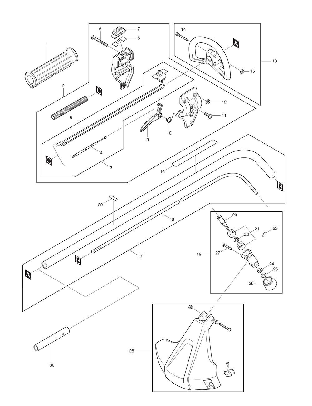 Dolmar lt 210 parts schematic