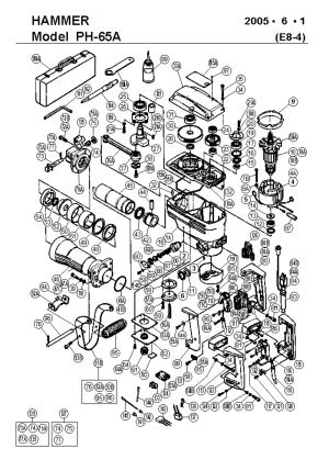 Hitachi PH65A Parts List | Hitachi PH65A Repair Parts