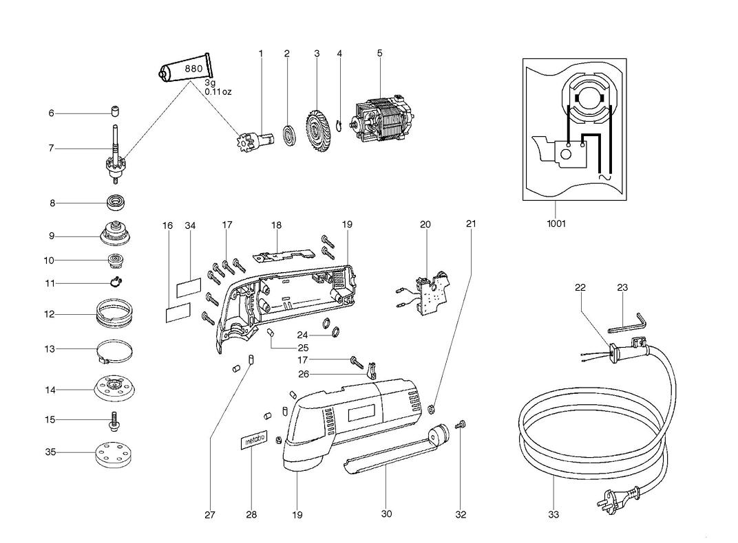 Metabo Sxe400 Parts List