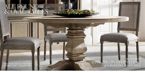 Round Amp Oval Tables Rh