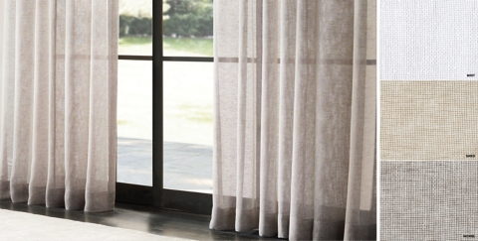 custom italian linen mesh sheer drapery