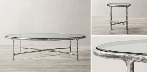 thaddeus round coffee table collection