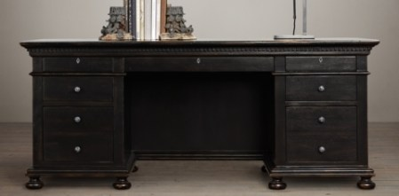 St  James Collection   Antiqued Black   RH Desks starting at  1850 Regular    1387 Member