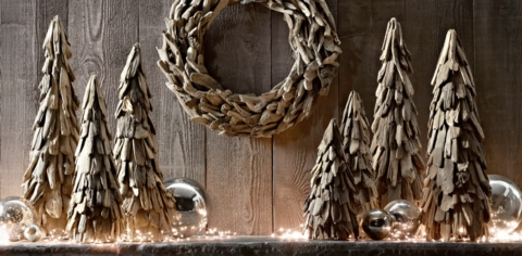 Natural Driftwood Tree Amp Wreath RH