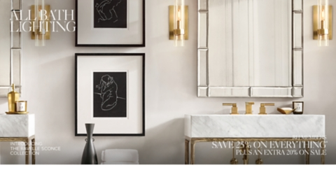 all bath lighting rh