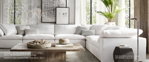sectional collections rh modern
