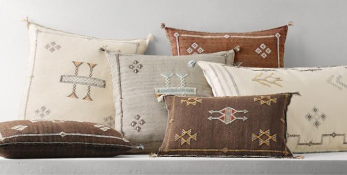 moroccan cactus silk pillow collection rh