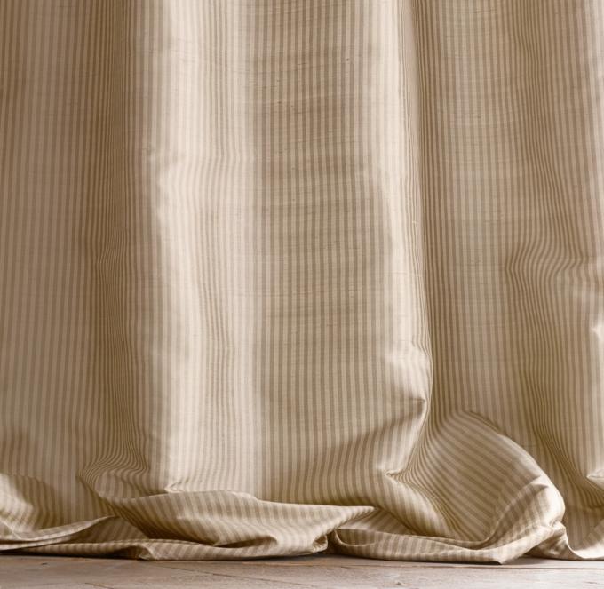 Thai Silk Tonal Stripe Drapery