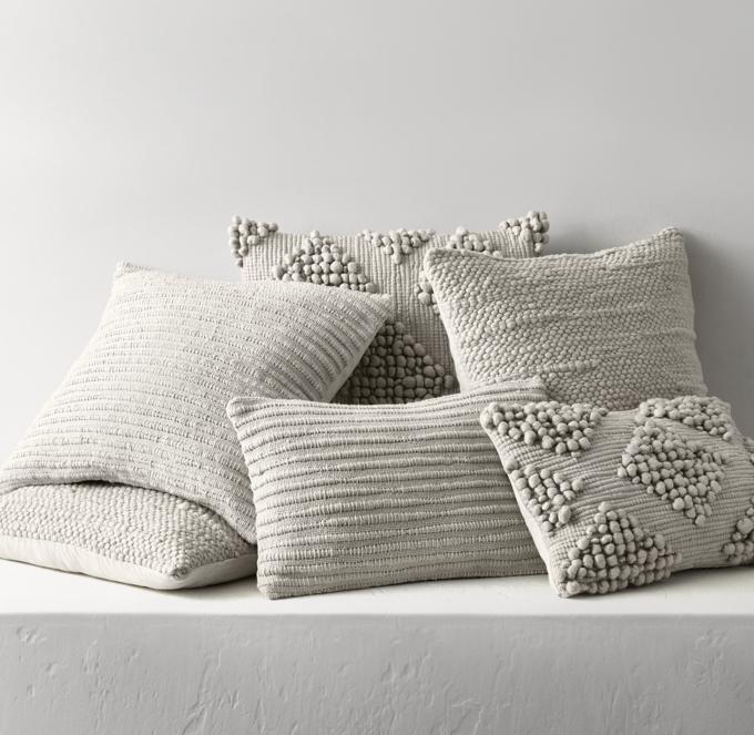 textured merino wool pillow cover