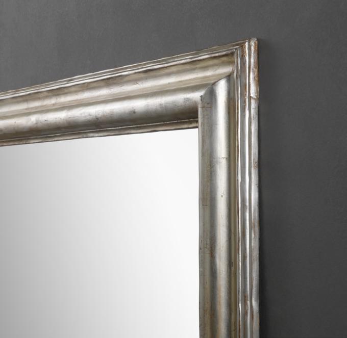 Baroque Aged Silver Leaf Mirror