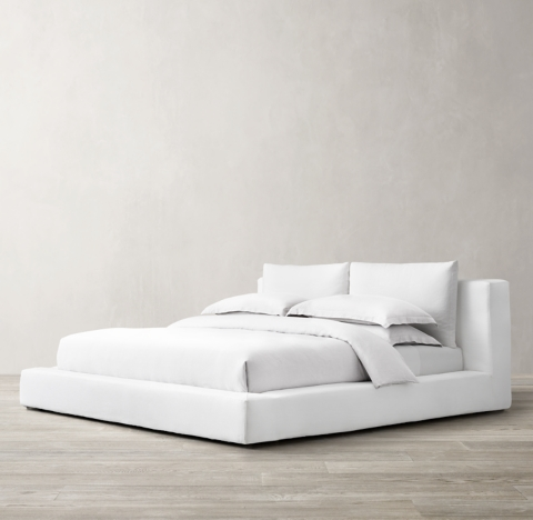 Cloud Slipcovered Platform Bed