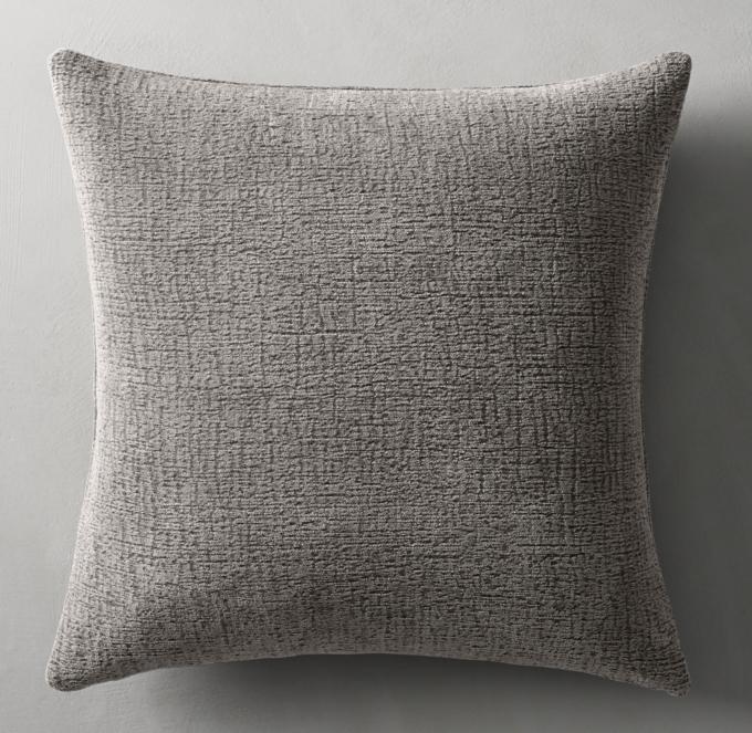 italian solid chenille pillow cover