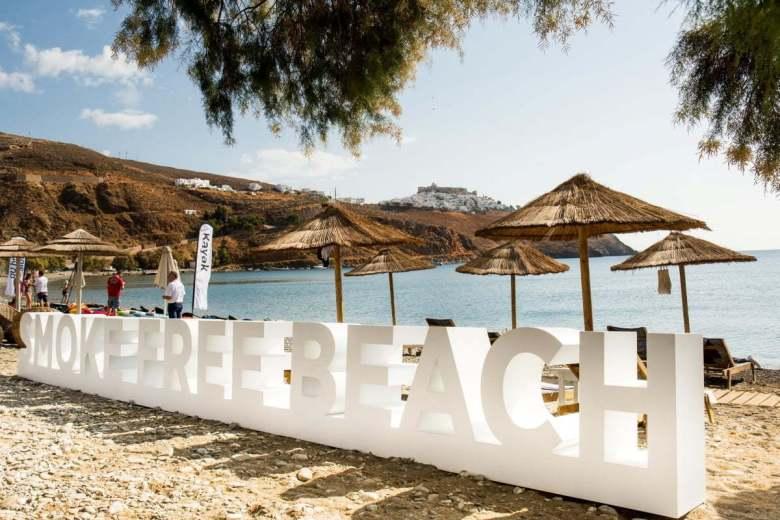 Plaja smoke-free de la Livadi