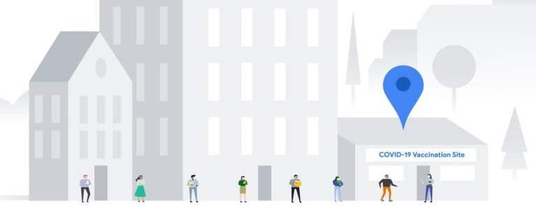 Google Maps-centre vaccinare