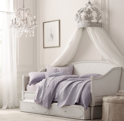 Canopy Mount Twin Size Crown Wall Bed