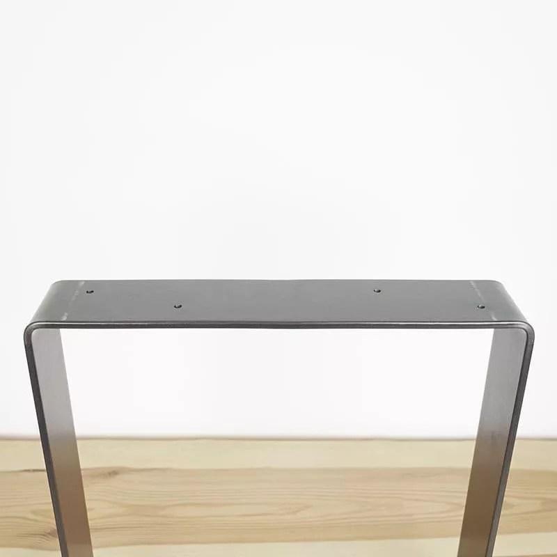 pieds de table acier carre fer plat