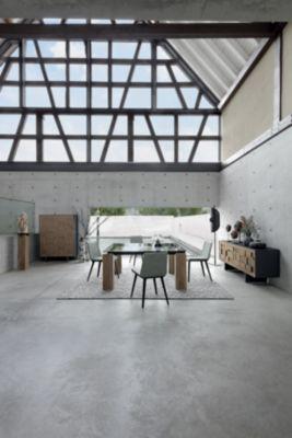 dining table crossbars in metal