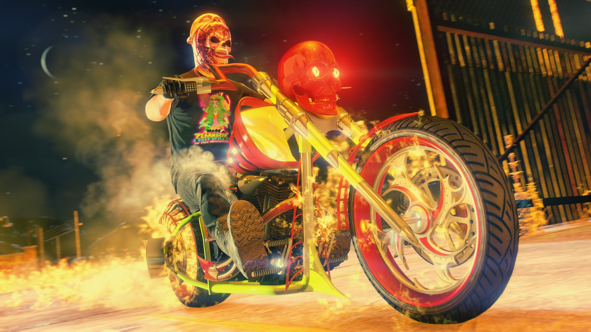 Moto d'Halloween sur GTA Online