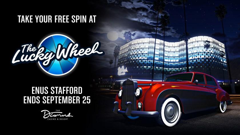 La Enus Stafford à gagner grâce à la roue de la fortune dans GTA Online