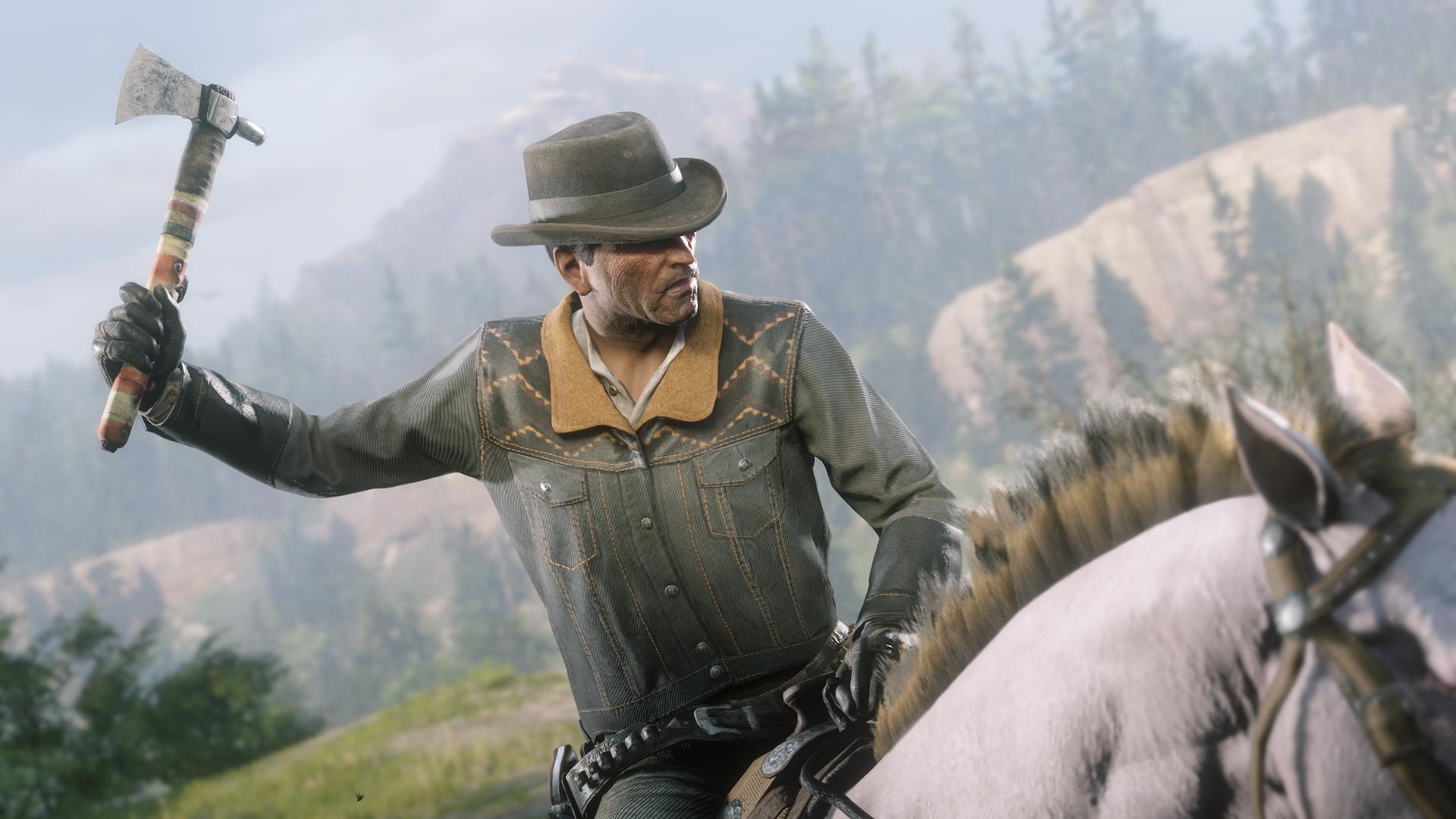 L'ancien tomahawk ainsi qu'un cheval sont exclusifs à la PS4 sur Red Dead Online