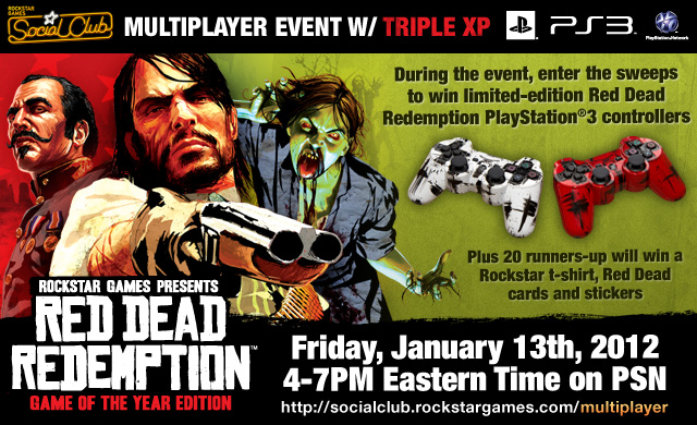 Win Limited Edition Controllers In The Red Dead Redemption Amp Undead Nightmare PSN Official