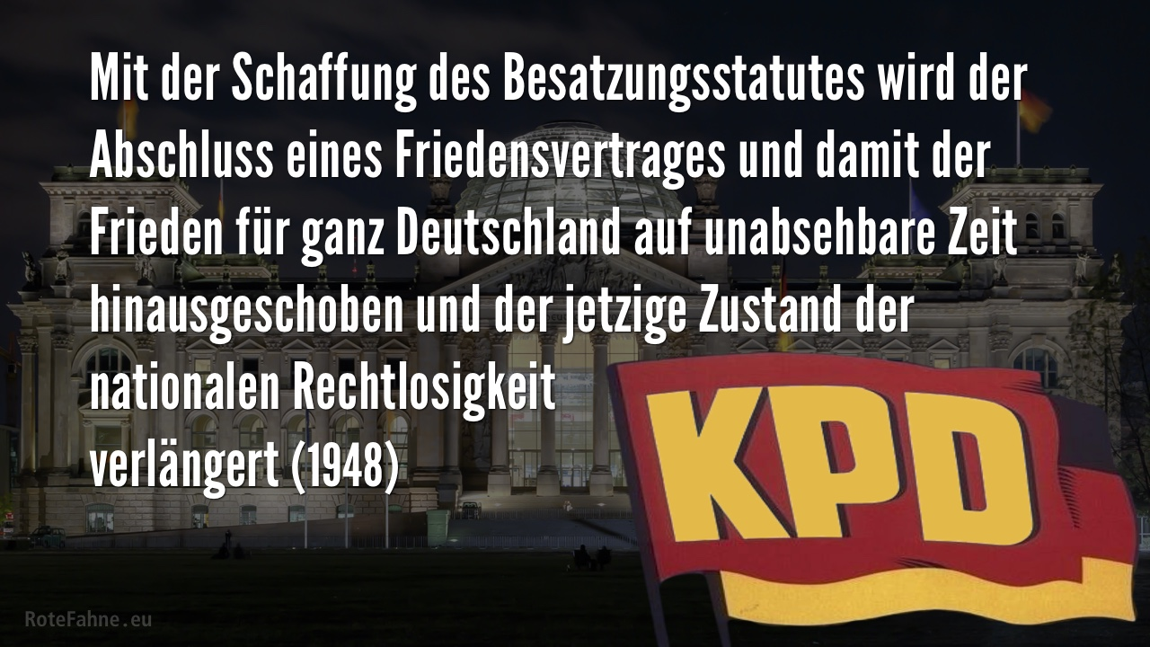 KPD fordert Friedensvertrag, 1948