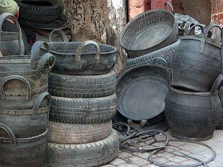 Objets En Pneu Recycl Mdina Marrakech